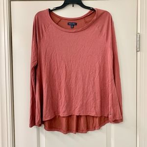 AEO Rust Brown Soft & Sexy Long Sleeve Top Medium